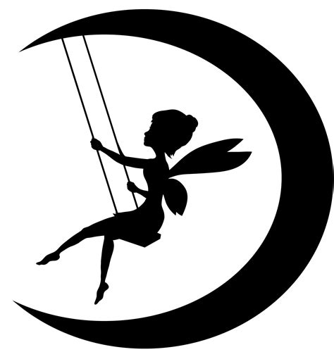 free silhouette images silhouette tinkerbell clipart best