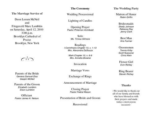 wedding program template tri fold wedding program template publisher