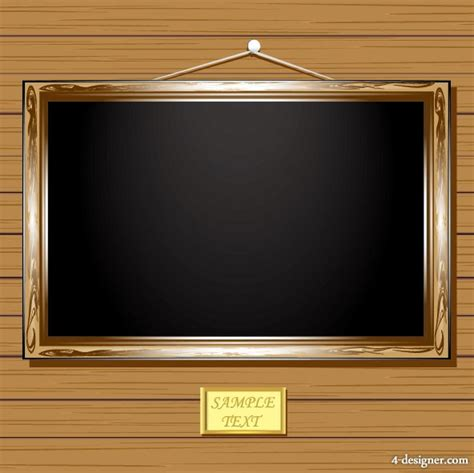 wood frame design vector 4 designer retro wooden frame 03 vector