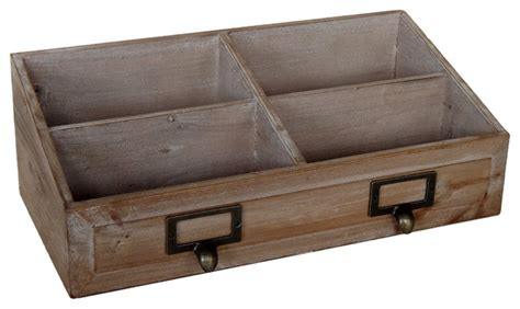 Rustic Desk Accessories Cheungs Mercantile Wood Desk Organizer View In Your Room Houzz