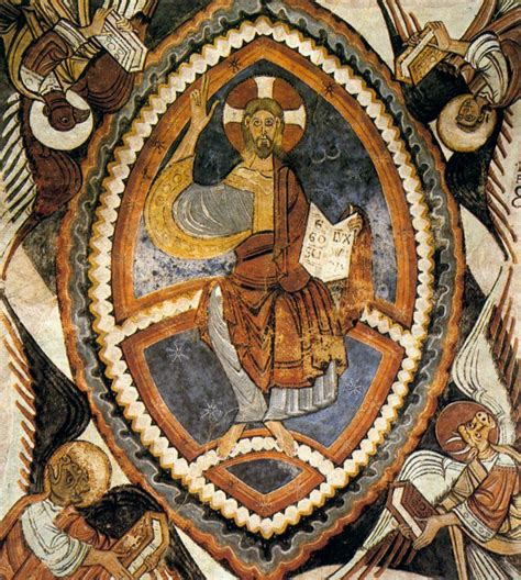 Bluish Grey by Christ Pantocrator By Romanesque Painter Catalan