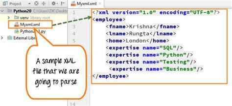 Tutorial Python Xml | python xml parser tutorial read xml file exle minidom
