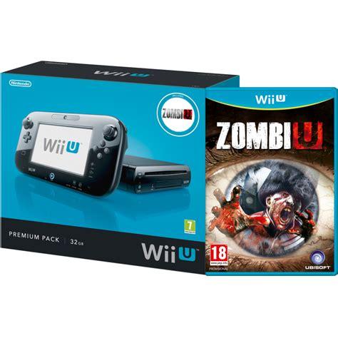 vendo wii u premium zombiu wii u console 32gb zombiu premium pack black