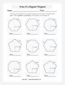 find the area of regular polygons such as pentagon