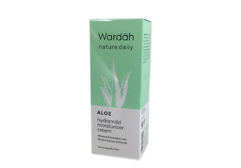 Harga Wardah Aloe Hydramild Moisturizer review wardah nature daily aloe hydramild moisturizer