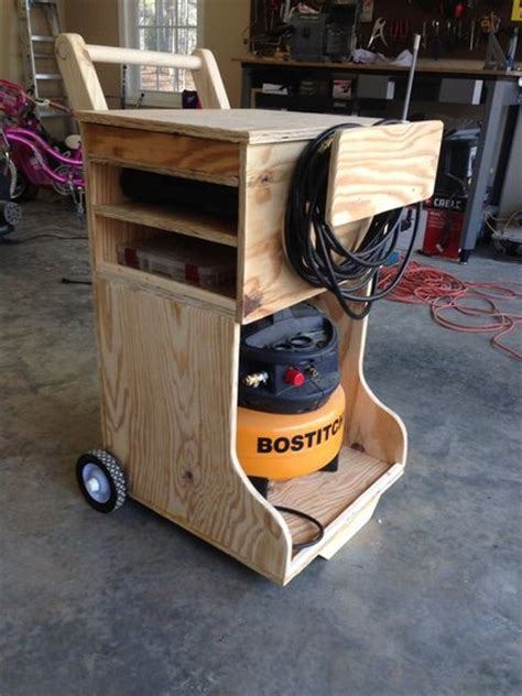 air compressor caddy by gcsdad lumberjocks woodworking community