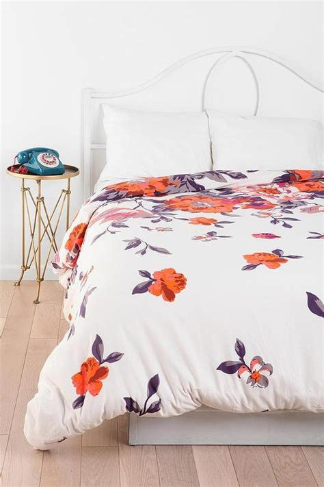 plum and bow bedding plum bow falling garden duvet cover i urban outfitters