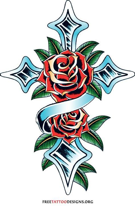 cross with roses tattoo tattoos for most a symbolizes