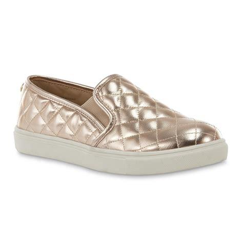 gold slip on sneakers sm s tessa gold slip on sneaker