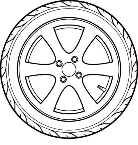 tire color car tire outline coloring pages best place to color