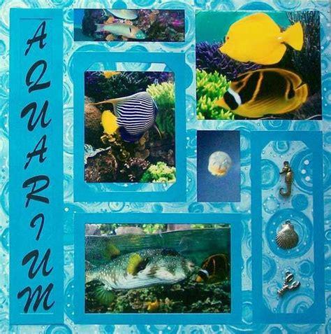 scrapbook layout aquarium scrapbook page ideas picmia