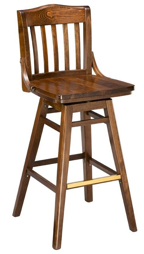 Wood Swivel Bar Stools by Bar Stool 2454w Sv Swivel Wood Bar Stool School