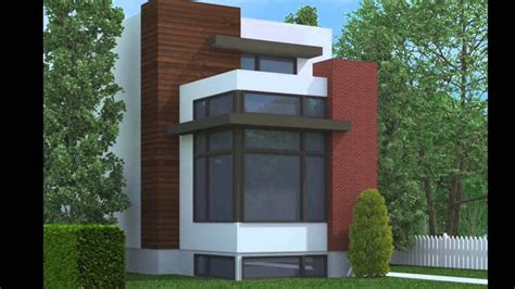 Three Story House Plans Narrow Lot by Floor Plan Narrow Lot Modern House Plans Two Story Homes