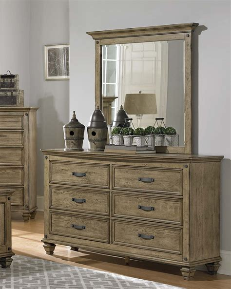 Homelegance Sylvania Bedroom Set Driftwood Homelegance Sylvania Dresser Driftwood Oak 2298 5