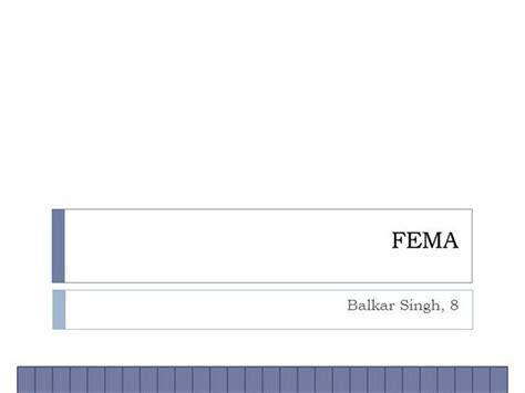 fema business card template fema authorstream