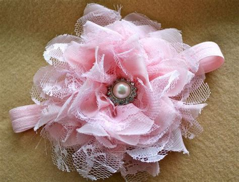 New Headband Bayi Pink Flower reserved for rosecottagestitches new arabella flower in