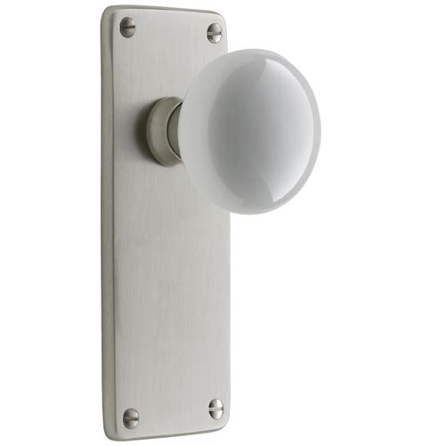 Interior Door Handles And Knobs Benson White Porcelain Knob Interior Door Set Rejuvenation