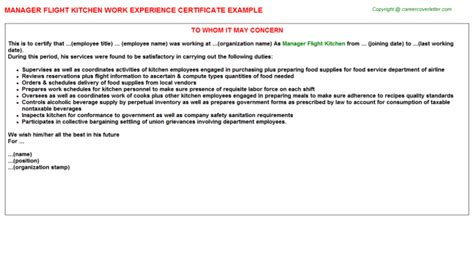 Experience Letter For Kitchen Helper Kitchen Helpers Work Experience Certificates