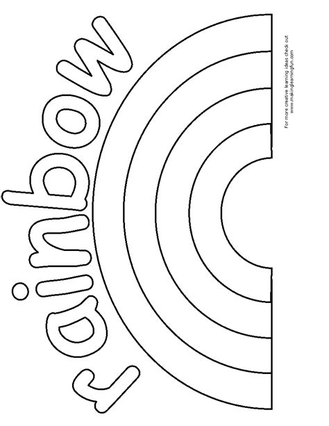 rainbow template bingo marker and coloring pages