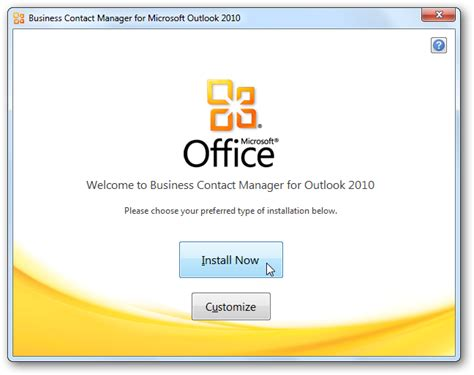 Install Microsoft Office getting started with outlook business contact manager 2010