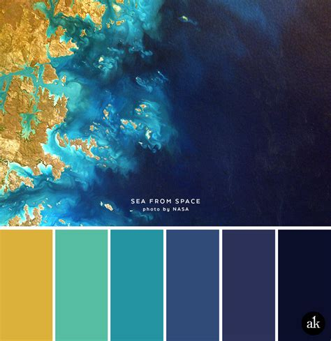 blue yellow color scheme a sea and space inspired color palette spaces navy blue