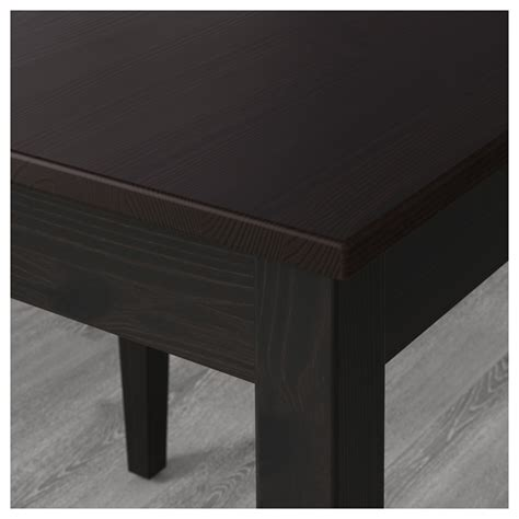 lerhamn table black brown 74x74 cm ikea