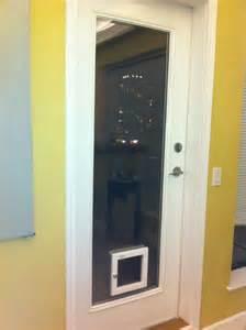 Sliding glass doors with built in doggie doors dog doors cat doors