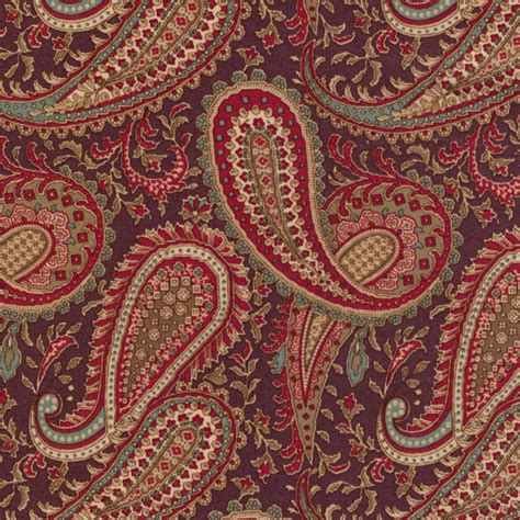 Floral Patchwork Fabric - threads and patches floral paisley patchwork fabric