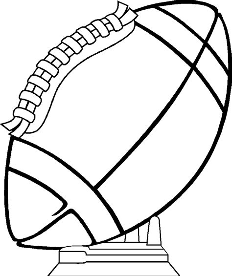 free football coloring sheets clipart best