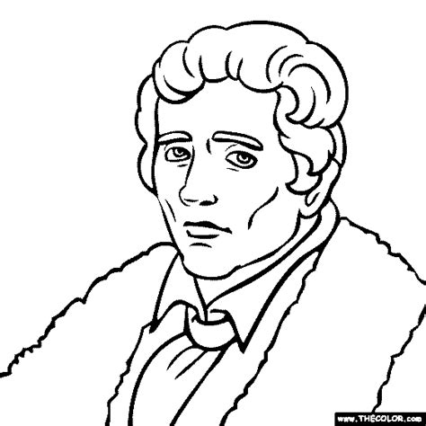Online Coloring Pages Starting With The Letter D Daniel Boone Coloring Pages