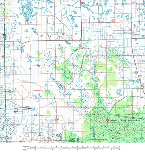 section maps southwest section of hendry county 1985
