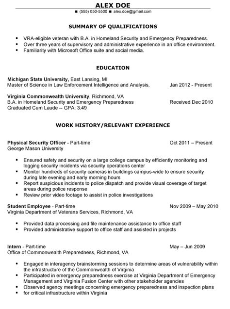 free resume help for veterans exle resume free resume templates for veterans