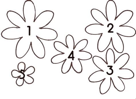 printable little flowers paper flower template new calendar template site