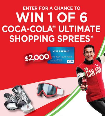 Coke Sweepstakes - enter coca cola ultimate shopping spree contest free stuff finder canada