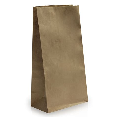 Paper Bag - block bottom brown kraft paper bags paper bags carrier