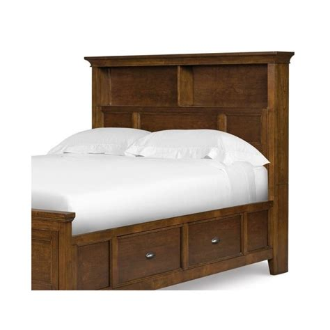 bookcase headboards twin magnussen riley twin bookcase headboard in cherry y1873 58h