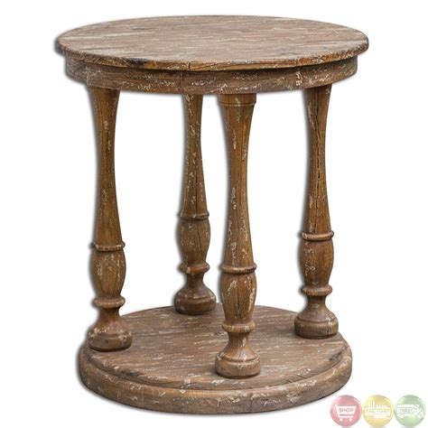 rustic wood accent table bardeau country rustic weathered wooden accent table 25628