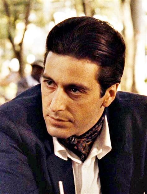 mobster haircut al pacino the godfather part ii 1974 his eyes tho