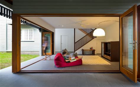 queenslander rooms queenslander fig tree pocket contemporary family room brisbane by elaine mckendry architect