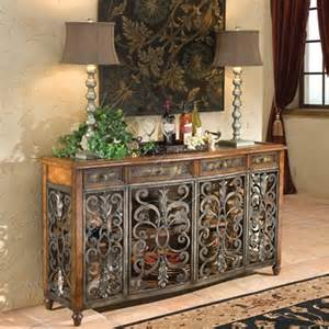 iron sideboard etched brass iron sideboard