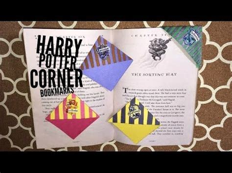 How To Make A Book Out Of Construction Paper - harry potter corner bookmarks bookmarks