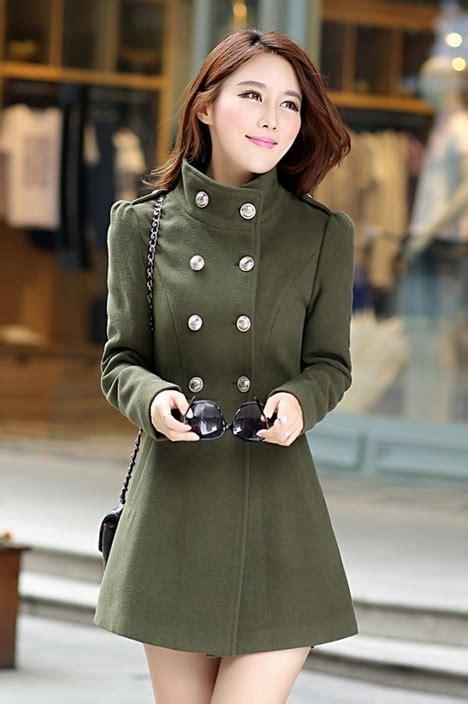 Ready Stock Import Coat 17296 jaket musim dingin green woolen coat jyr5820green coat korea