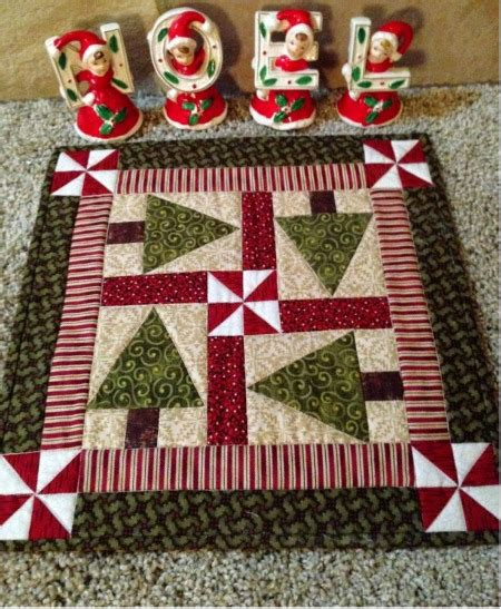 pattern for christmas tree table runner holiday trees table topper pattern quilting digest