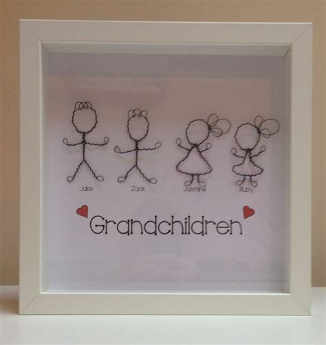 personalised grandchildren family tree picture unique