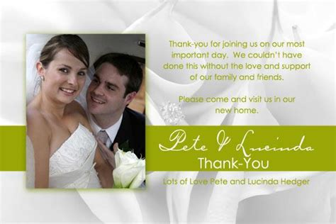 Wedding Announcement Thank You Cards by Wedding Thank You Photo Cards With Black And White Flowers