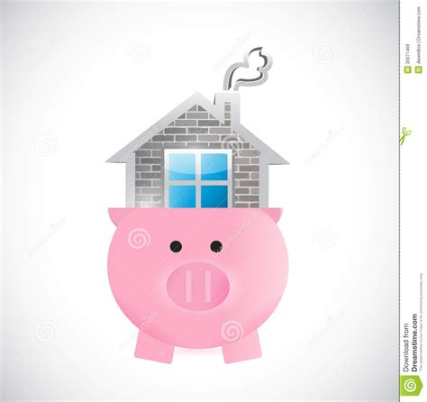 saving for a house saving for a home piggy and house illustration royalty free stock photos image