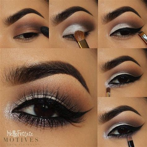 tutorial makeup smokey eyes pengantin black and silver eyeshadow tutorial www pixshark com