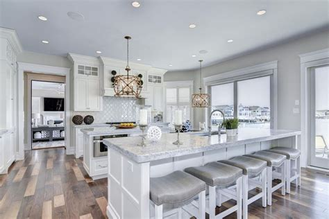 White Kitchen Islands With Seating 27 Amazing Double Island Kitchens Design Ideas