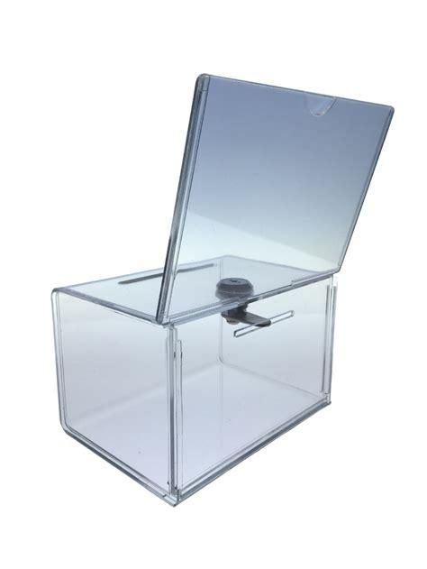 Acrylic Box collection box acrylic donation box