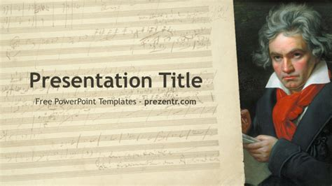 biography of beethoven ppt free beethoven powerpoint template for download prezenter